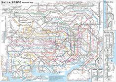Tokyo transport map