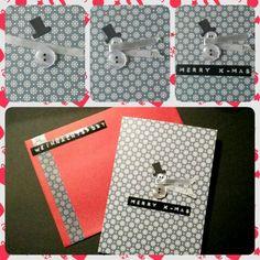 Weihnachtskarte Schneemann & Eisblumen