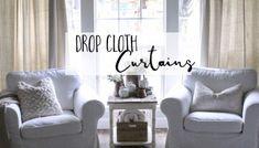 Inexpensive Farmhouse Hacks - Drop Cloth Curtains!