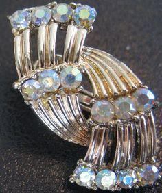 Vintage Coro Rhinestone Earrings by Kinsmade on Etsy