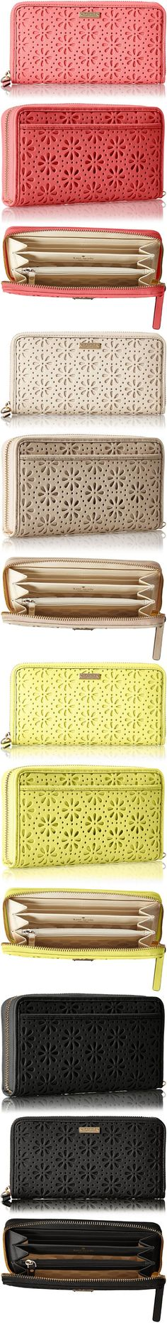 kate spade new york Cedar Street Perforated Lacey Wallet. So adorable!