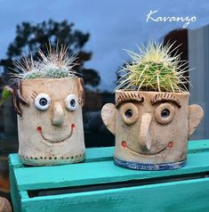 Prickly Family / Seller 's Goods kavanzo Clay Art For Kids, Clay Projects For Kids, Kids Clay, Ceramic Workshop, Pottery Handbuilding, Slab Pottery, Sculpture Clay, Pottery Painting, Pots