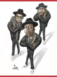 Run D MC robin williams caricatures I Love Music, Kinds Of Music, Pictures To Paint, Cool Pictures, Sara Smile, African American Artwork, Run Dmc, Celebrity Caricatures, Hip Hop Art