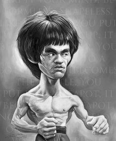 Aquí verás una muy buena selección de caricaturas de Bruce Lee , muchas de ellas a partir de fotos de sus películas, de diferentes artistas ...
