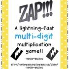 You will receive twelve pages of multiplication facts and ZAP cards. Two digit by two digit facts from 10's to 90's are represented. There are ...