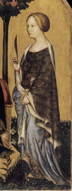 GENTILE DA FABRIANO  Virgin and Child with Sts Nicholas and Cathrine  c. 1405