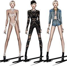 Roberto Cavalli Creates Miley Cyrus' 'The Bangerz World Tour' Wardrobe