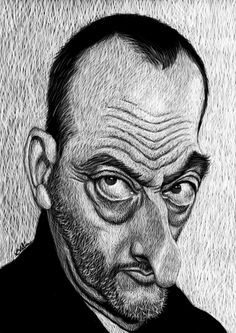 Jean Reno, Photoshop, Scratchboard, Lee Jeffries, Famous People, Nostalgia, The Past, Portrait, Celebrities
