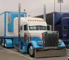 Peterbilt Custom Truck Blue White …