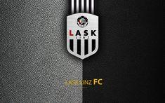 Download wallpapers LASK Linz FC, 4k, leather texture, logo, Austrian football club, Austrian Bundesliga, Linz, Austria, football