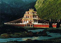 Zangdok Palri Temple, Dzogchen Valley, Tibet