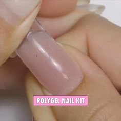 Clothes for all pleasures, find yours, outfits, Polygel Nails, Cute Nails, Hair And Nails, Acrylic Nails, Stylish Nails, Mani Pedi, You Nailed It, Cool Hair Color, Summer Nails