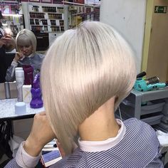 """161 Likes, 4 Comments - @bobbedhaircuts on Instagram: """"Credit to @nitalieva_elnara Another view of this fabulous Stacked bob....... To have your hair…"""""""