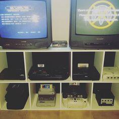 Games room pt2 cabling done #retrogaming #sega #nintendo