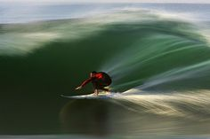 Red on Green © David Orias. Panning slow shutter speed photograph of a local surfer at Rincon Panning Photography, Motion Blur Photography, Amazing Photography, Photography Ideas, Exposure Photography, Digital Photography, Surfing Photos, All Nature, Surfs Up