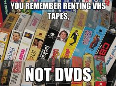Vhs was cool but we had this http://youtu.be/DowGYteer_o After you watch the video you have to remember it was $15 a disc back in the 80's!!!!