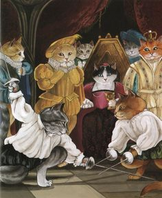 "As a cat-owner and a Shakespeare-appreciator, naturally I have to pin this one! ;-) ""Hamlet (William Shakespeare)"" par Susan Herbert"