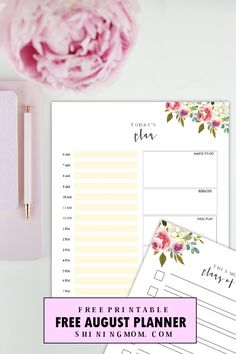 It's time to plan the new month ahead! To get us all started, I am giving away a sweet gift– a free printable August planner that you can print and use outright. It's a truly pre… Daily Printable, Printable Planner, Free Printables, 2017 Planner, Planner Ideas, Binder Organization, Organizing, New Month, Giving