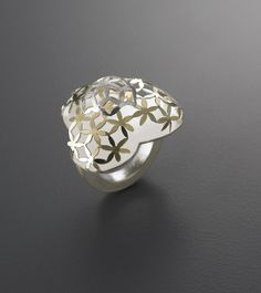 Visibly Interesting: Youngjoo Yoo. 'The Laurel'. 18k gold, sterling silver (bi metal), sterling silver.