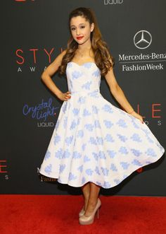 Fabulously Spotted: Ariana Grande Wearing Kenley Collins - 10th Annual Style Awards  - http://www.becauseiamfabulous.com/2013/09/ariana-grande-wearing-kenley-collins-10th-annual-style-awards/