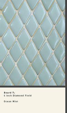 glass tile diamond pattern-bathroom