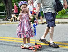 St. Michaels 4th of July Parade In Pictures-girl on scooter
