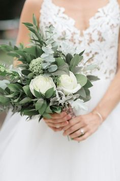 eucalyptus and white roses small simple wedding bouquet bouquets 12 Pr. - eucalyptus and white roses small simple wedding bouquet bouquets 12 Pretty Small Wedding - Bridesmaid Bouquet White, White Rose Bouquet, Bridal Bouquet Fall, Bridal Flowers, Flower Bouquet Wedding, Small Flower Bouquet, Baby's Breath Wedding Bouquet, Babies Breath Bouquet, Bouquet Of Roses