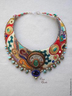 Купить По Климту - 2 - разноцветный, ольга орлова, Климт, колье ручной работы