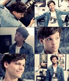 Louis! He has his jean jacket on love his jean jacket!!!