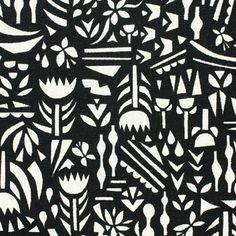 Botanica-Black-Rough-Cut-Kokka-Cotton-Fabric