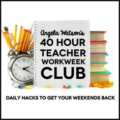 A 40 hour week for a teacher is almost unheard of. The growing number of teacher-bashers out there have somehow gotten the idea that we work far fewer hours that. And of course, anyone who's ever worked in the field knows that the time spent at school combined with the time spent on paperwork at…