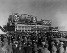 Atlantic City Coke & Lucky Strike Billboard 8x10 Reprint Of Old Photo