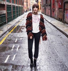 Cropped kick flares and fuzzy cardis by asos_megan