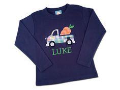 Boy's Easter Shirt - Easter Carrot Truck  by SunbeamRoad