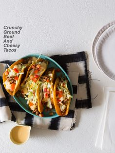 Crunchy Ground Beef and Cheesy Tacos