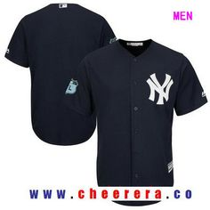 Men's New York Yankees Majestic Navy Blue 2017 Spring Training Cool Base Stitched MLB Custom Jersey