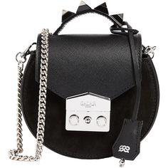 Salar Carol Cross Body Bag (€335) ❤ liked on Polyvore featuring bags, handbags, shoulder bags, black, genuine leather crossbody handbags, leather shoulder handbags, handbag purse, hand bags and crossbody purse