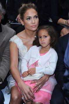 Chanel Front Row - Jennifer Lopez and Emme Maribel Muniz
