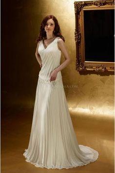 Sommer Schlichte Günstige Brautkleider aus Chiffon