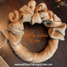 {ruffled burlap wreath}