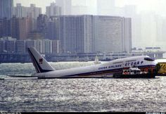 The Kai Tak Airport no longer exists, but it was one of the wonders of the flying world when it was in operation. Kai Tak served Hong Kong during the time when it was a British Crown Colony. When I lived in Hong Kong in the late it was densel. Kai Tak Airport, Boeing 747 400, Jumbo Jet, Aircraft Pictures, Hong Kong, Cool Photos, China, Airports, Airplanes