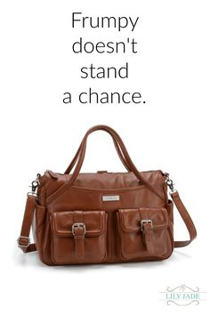 Upgrade your #momlife with luxe leather and premium hardware from www.lily-jade.com.