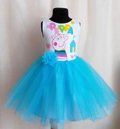Peppa Pig Dress Birthday Dress Tulle dress Peppa от SugarShopDress Beautiful Dresses, Nice Dresses, Prom Dresses, Peppa Pig Dress, O Happy Day, Holiday Party Dresses, Going Out Dresses, Birthday Dresses, Little Dresses