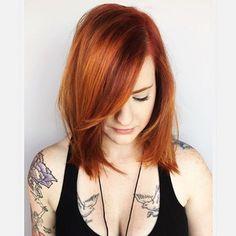 "81 Likes, 10 Comments - RedBloom Salon (@redbloomsalon) on Instagram: ""Copper hair for a pretty girl! Hair by advanced stylist Amanda L. @manderyo"""
