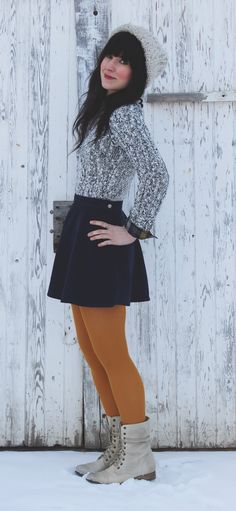 Courdory skirt and sweater