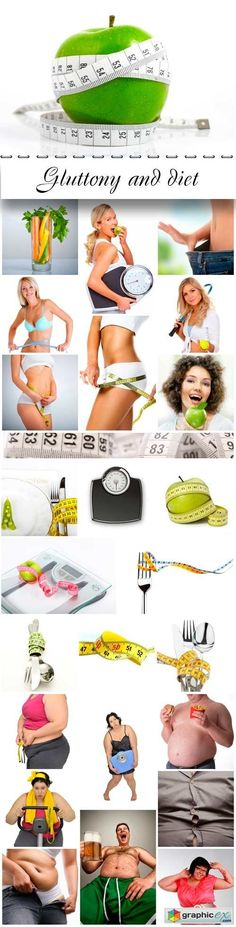 Gluttony and diet  stock images