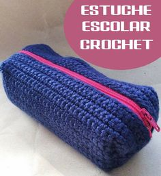 Vicki Brown Designs: Box Pencil Case :: A Crochet Pattern :: Crochet Pencil Case, Pencil Case Pattern, Crochet Hook Case, Diy Pencil Case, Crochet Pouch, Crochet Purses, Crochet Hooks, Pencil Cases, Pencil Pouch