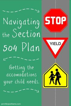 Navigating the Section 504 Plan - What is it? Does your child need one? What are your rights? Anxiety, attention deficits, and learning disabilities Irlen Syndrome, 504 Plan, School Social Work, High School, School Psychology, Learning Disabilities, Adhd Kids, School Counselor, Special Needs