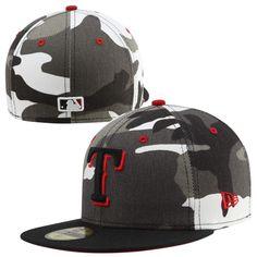New Era Texas Rangers Urban Camo 59FIFTY Fitted Hat - Black White Texas  Rangers Hat 7768e4486