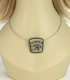 Eye of Horus Necklace Egyptian Necklace by mindfulmatters
